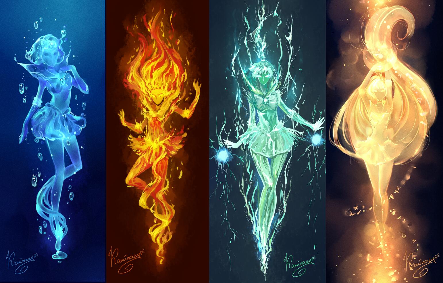Рисунок стихии огня